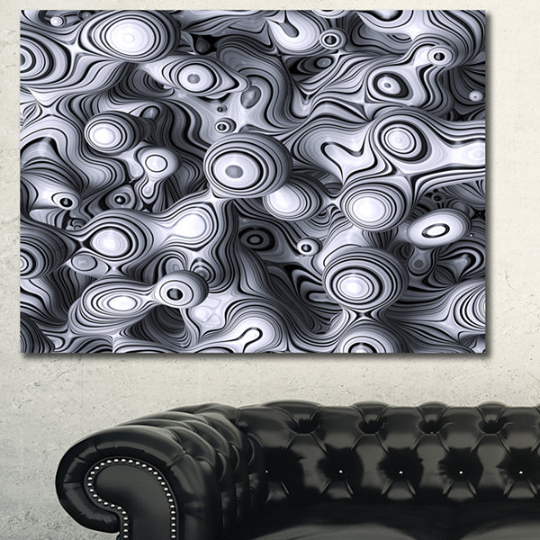 Design Art 3D Abstract Wavy Bubbles Abstract CanvasArt Print