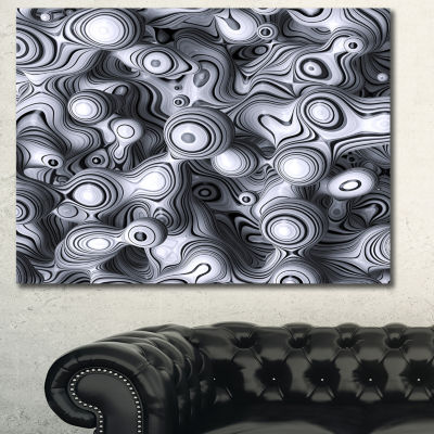 Design Art 3D Abstract Wavy Bubbles Abstract CanvasArt Print - 3 Panels