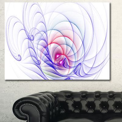 Designart 3D Blue Surreal Illustration Abstract Canvas Art Print