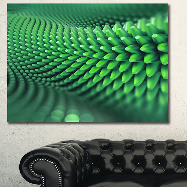Designart Abstract 3D Spiny Background Abstract Canvas Wall Art