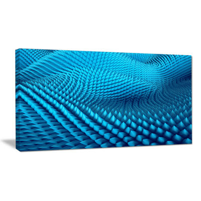 Designart Abstract Blue Wavy Background Abstract Canvas Wall Art