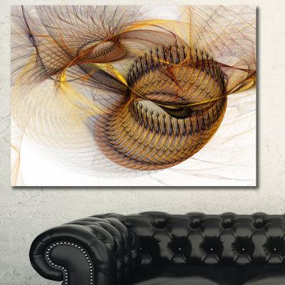 Designart Abstract Brown Spiral Texture Abstract Canvas Art Print