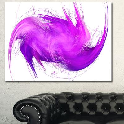 Designart Abstract Purple Fractal Pattern AbstractCanvas Art Print - 3 Panels