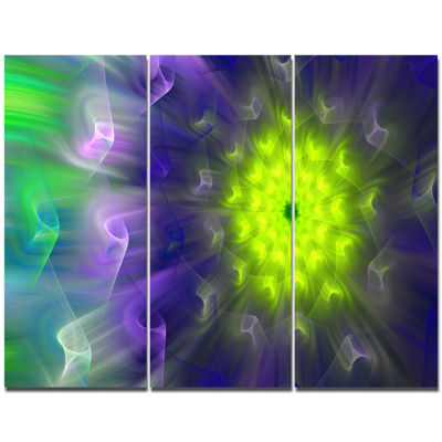 Designart Amazing Dance Of Exotic Petals Floral Canvas Art Print - 3 Panels