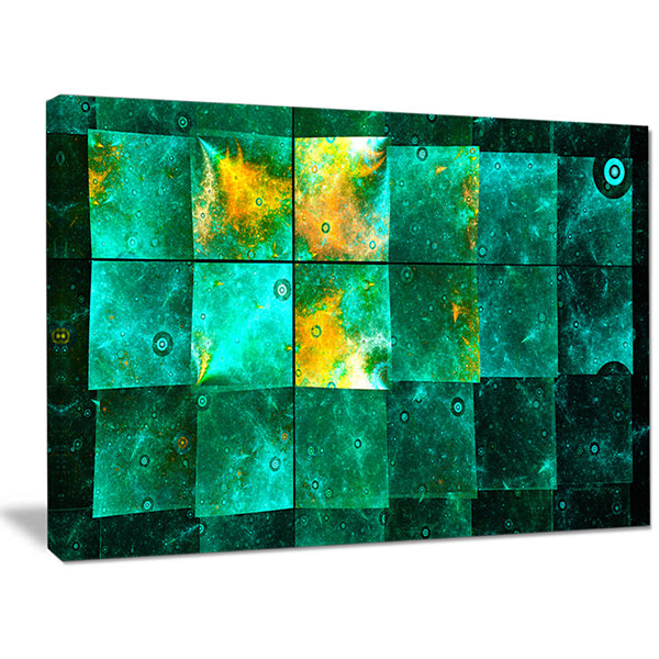 Designart Astrological Space Map Abstract Canvas Art Print