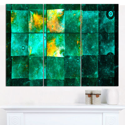 Designart Astrological Space Map Abstract CanvasArt Print - 3 Panels