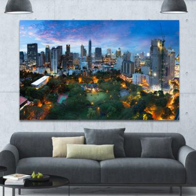 Designart Bangkok City Skyline Cityscape Canvas Art Print