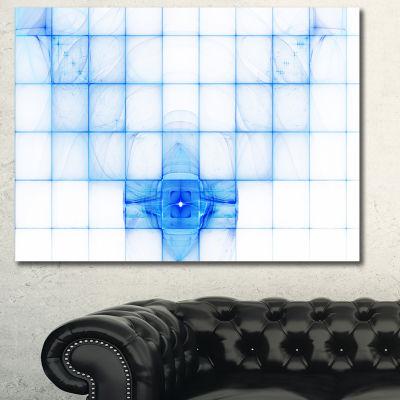 Designart Bat Outline On Radar Screen Abstract Canvas Art Print - 3 Panels