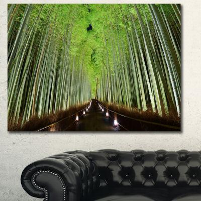 Designart Beautiful Bamboo Forest Panorama Landscape Canvas Art Print