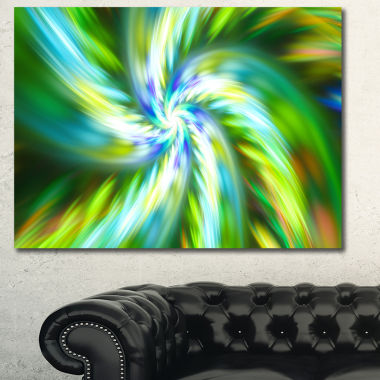 Designart Beautiful Green Flower Petals Floral Canvas Art Print