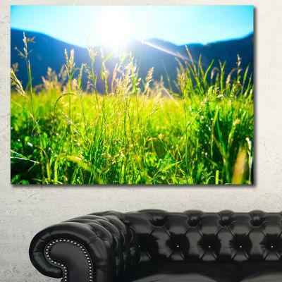 Design Art Beautiful Green Nature Wonder LandscapeCanvas Art Print - 3 Panels