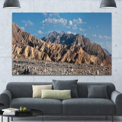 Designart Beautiful Hills In Death Valley AbstractCanvas Art Print
