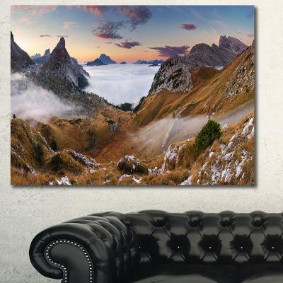 Designart Beautiful Summer Panorama Landscape Canvas Art Print - 3 Panels