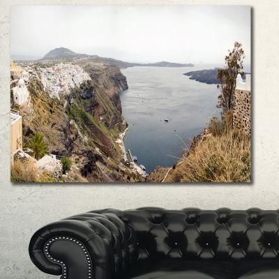 Designart Beautiful View Of Santorini Island Landscape Canvas Art Print - 3 Panels
