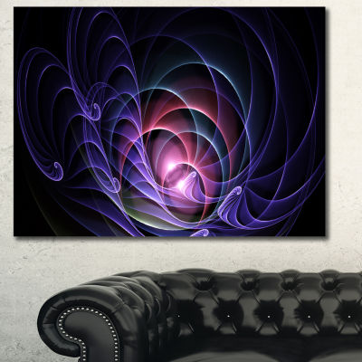 Designart Blue 3D Surreal Fractal Design AbstractArt On Canvas - 3 Panels