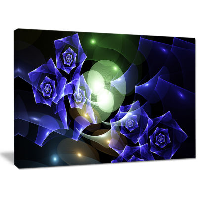 Designart Blue Bouquet Of Beautiful Roses AbstractCanvas Art Print