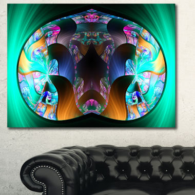 Designart Blue Capsule In Plasma Abstract Canvas Art Print