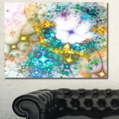 Designart Blue Cosmic Black Hole Abstract Art On Canvas