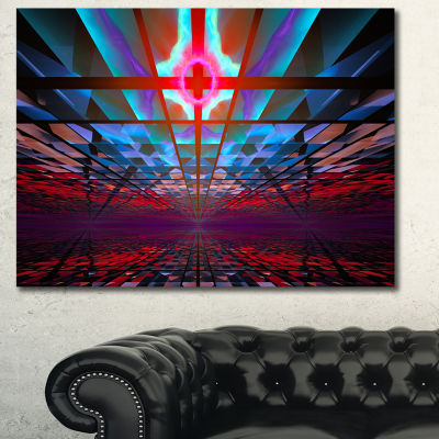 Designart Blue Cosmic Horizons Apocalypse AbstractArt On Canvas - 3 Panels