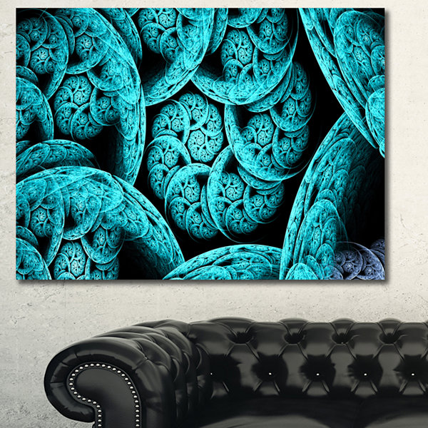 Design Art Blue Dramatic Clouds Abstract Art On Canvas - 3 Panels