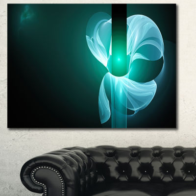 Designart Blue Flower Fractal Illustration Abstract Canvas Art Print