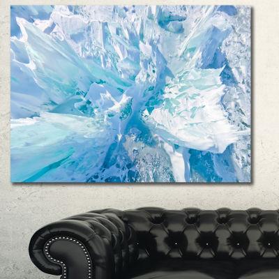 Designart Blue Ice Hummocks Baikal Landscape Canvas Art Print