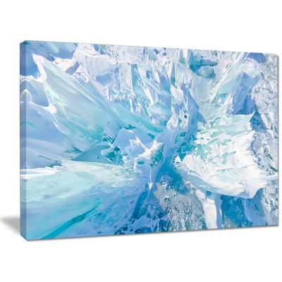Designart Blue Ice Hummocks Baikal Landscape Canvas Art Print