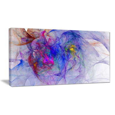 Designart Blue Mystic Psychedelic Texture AbstractArt On Canvas
