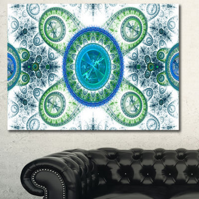 Designart Blue Psychedelic Relaxing Art Abstract Canvas Art Print