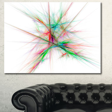Designart Blue Red Spectrum Of Light Abstract Canvas Art Print