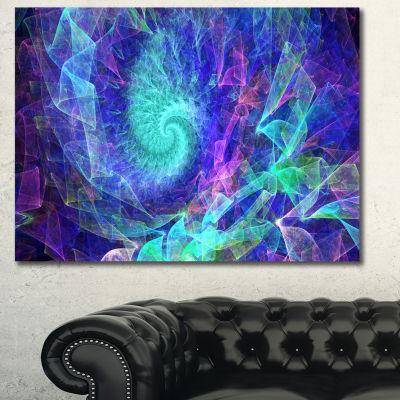 Designart Blue Spiral Kaleidoscope Abstract CanvasArt Print