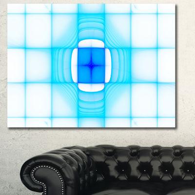 Designart Blue Thermal Infrared Visor Abstract Canvas Art Print - 3 Panels