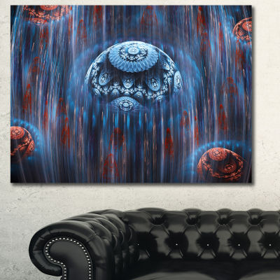 Design Art Blue World Of Infinite Universe AbstractCanvas Art Print - 3 Panels