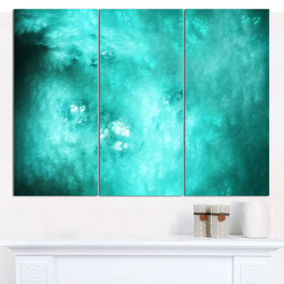 Designart Blur Blue Sky With Stars Abstract CanvasArt Print - 3 Panels