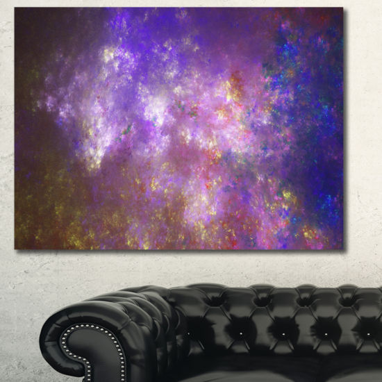Designart Blur Fractal Sky With Stars Abstract Canvas Art Print