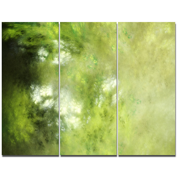 Designart Blur Sky With Stars Abstract Canvas ArtPrint - 3 Panels