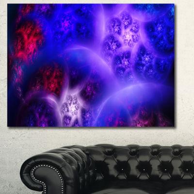 Designart Bright Blue Magic Stormy Sky Abstract Canvas Art Print - 3 Panels