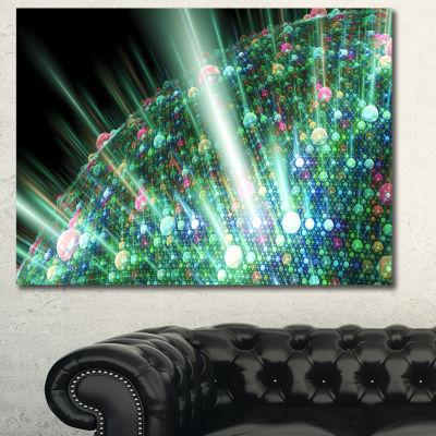 Designart Bright Blue Solar Bubbles Planet Abstract Canvas Wall Art