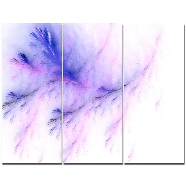 Designart Bright Blue Veins Of Marble Abstract Canvas Art Print - 3 Panels