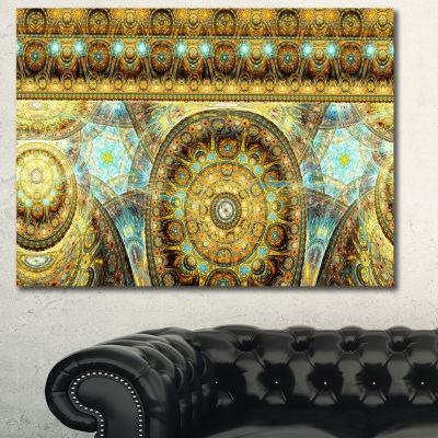Designart Brown Extraterrestrial Life Cells FloralCanvas Art Print - 3 Panels