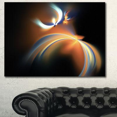 Designart Brown Floating Fractal Designs AbstractArt On Canvas - 3 Panels