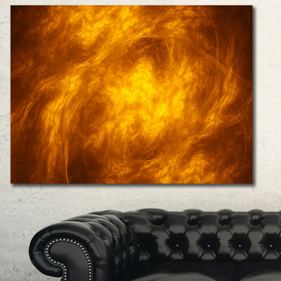Designart Brown Fractal Abstract Pattern AbstractArt On Canvas - 3 Panels
