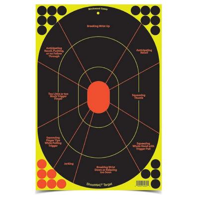 Birchwood Casey Shoot-N-C 12Inx18In Handgun Trainer-40 Shts