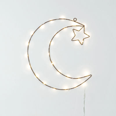 Frank And Lulu Moon Shaped Twinkle LED Lit Decor