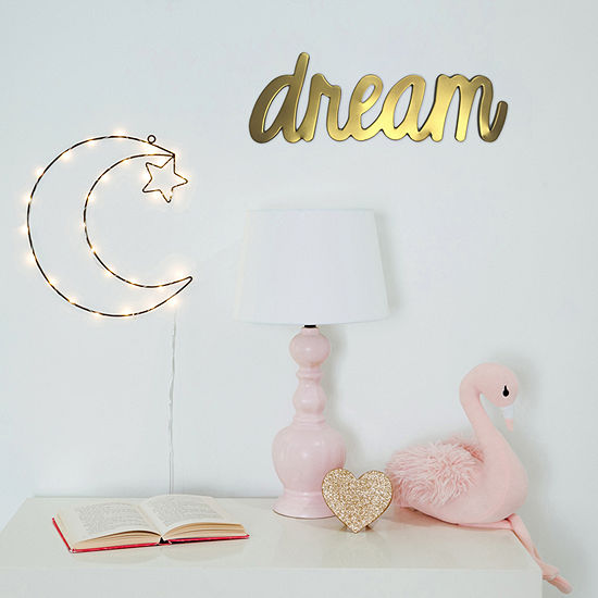 Frank And Lulu Dream Gold Metallic Wall Sign