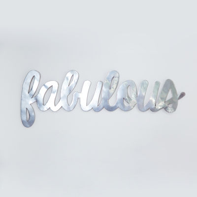 Frank And Lulu Fabulous Silver Metallic Wall Sign