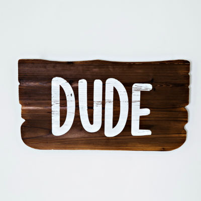 Frank And Lulu Dude Wood Plank Wall Sign