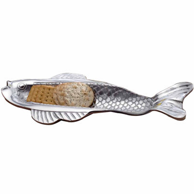 St. Croix Trading Kindwer Skinny Fish Olive & Cracker Tray