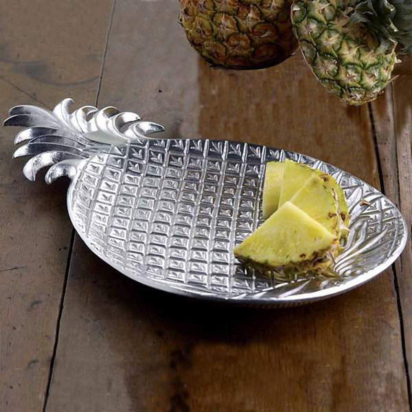 "St. Croix Trading Kindwer 17"" Aluminum Pineapple Tray"