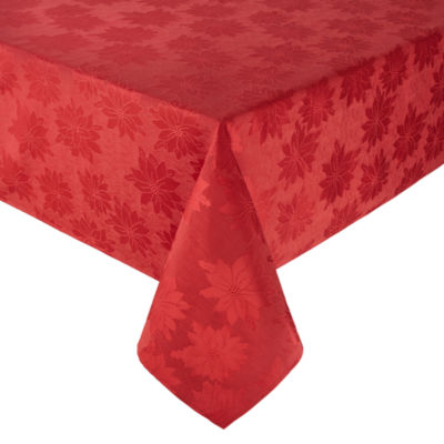 North Pole Trading Co. Poinsettia Seasons Tablecloth